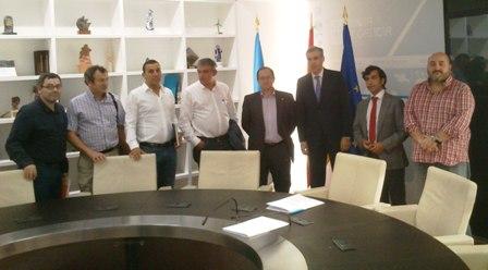 Entrevista Comité Megasa e Alcaldes co Conselleiro de Industria.